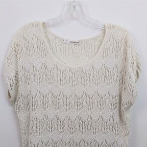 Maurices Cream Lace top cap sleeve size 0 (XL)